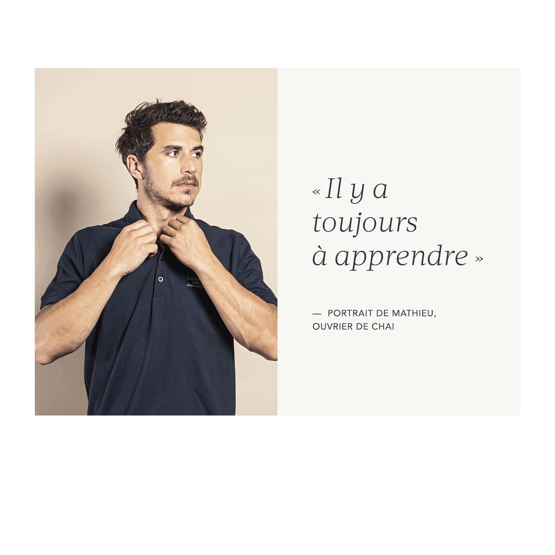 Mathieu Huguet, ouvrier de chai
