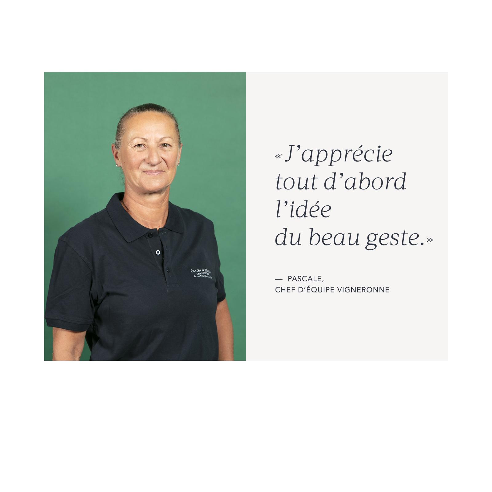 Pascale – Chef d'équipe vigneronne